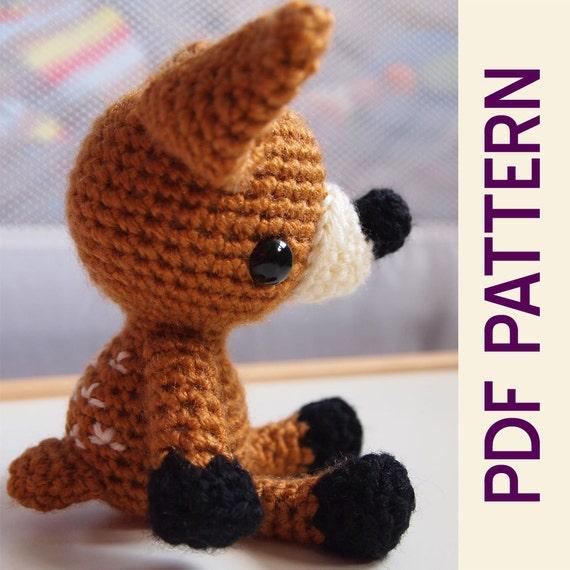 Crochet Baby Deer Pattern : Amigurumi Crochet Woodland Forest Fawn Baby Deer Toy Doll PDF