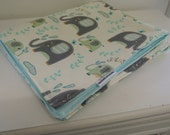 Changing Pad - Waterproof and Washable Mat - Elephant Splash with TiffanyPUL