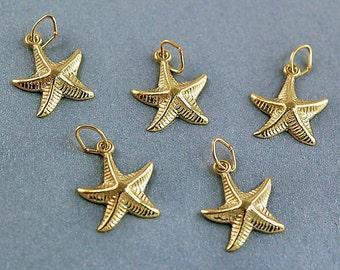 Gold Vermeil Star Charms - 5