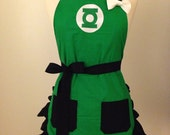 Green Lantern Embroidered Apron