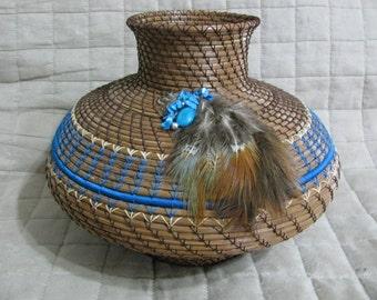 Handcrafted  Pine Needle Vase