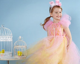EASTER TUTU DRESS includes halo and flower clip