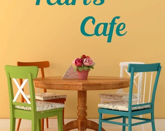 Cafe, Personalized Name Vinyl Wall Decal, Dining Room, Eating Area, Breakfast Nook, Kitchen, Diner