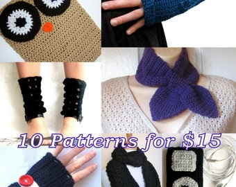 10 Crochet Patterns - Choose your own - Permission to sell items made from all patterns