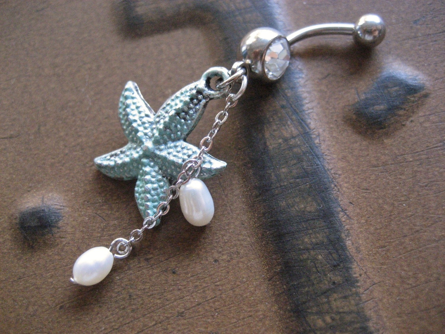 belly button ring jewelry mint starfish belly button ring
