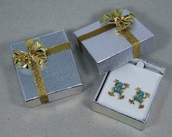 Bowtie Earring Box 24 Qty Silver In Color
