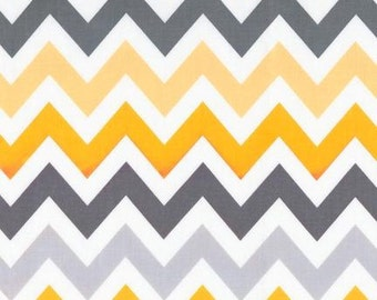 Robert Kaufman Fabric Remix Chevron Stripe Retro, Choose your cut