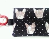 The Bag Buddy - Dog Mess Bag Pouch / Poo Bag Dispenser / Boston Terrier / French Bulldog / Pet Leash Bag / Dog Waste Bag / Pet Accessories