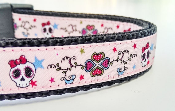 Punk Rock Girl - Dog Collar / Handmade / Pet Accessories / Adjustable