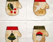 Warm Woolen Mittens Appliqued Quilt Blocks