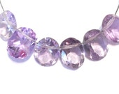 Amethyst light lavender faceted ring cut ovals 6 pieces