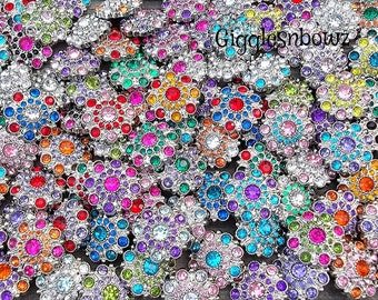 SaLE Rhinestone Button SaLE- GiGGLeSNBoWZ 10 piece Grab Bag of Buttons- FiRST QUaLiTY RaNDoM ASSoRTMeNT 28mm