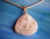 Handmade Dichroic Druzy Pendant Necklace .925 Sterling Silver ...drusy...