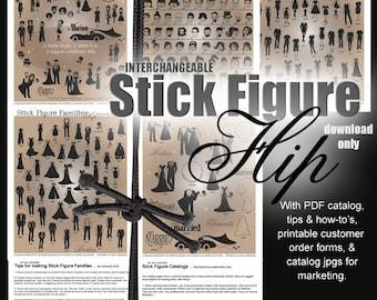 Stick Figure SVG Files - Stick People SVG Files - Ai Eps Gsd Svg - Digital Cut Files for Vinyl Cutters - Car Window Vector Art Cuttable SVG