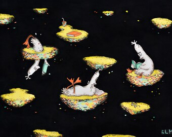 Reading Ducks original painting by Bettina McEntyre