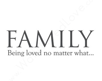 Family Love Wall Decal