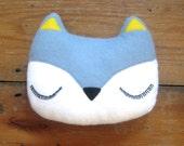 Fox Pillow - Woodland Plush Felt Stuffed Decoration - Childs Nursery Decor - Woodland Fox Decor  - Fox Baby Gifts - Fox Nursery Decor
