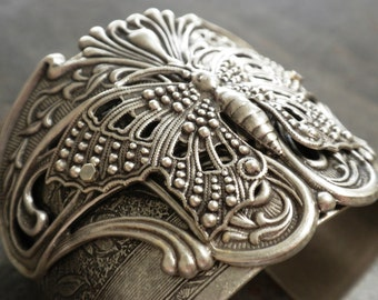 Art Nouveau Jewelry Silver Butterfly Bracelet