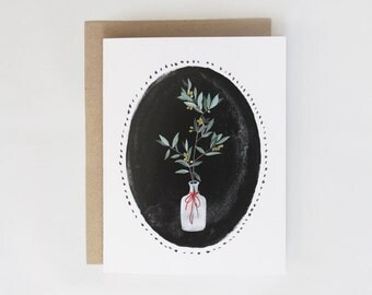 Winter Foliage Card - 1pc