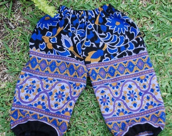 Hippie Harem pants size 2 -Purple Blue Sunflower -Girls or Boys-read measurements-Downward Dog Yoga pants
