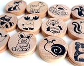 Make a Match Toddler Travel Game - Forest Friends Edition - Matching Game inspired by Montessori and Waldorf Methodologies