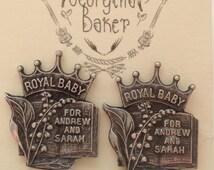 British Earrings, Royal Family, Stud Earrings, Spoon Earrings, Royal Baby, UK Jewellery, UK Earrings, Spoon Jewellery