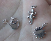 Sterling Silver Sun,Watering Can or Gecko charm(you choose which one and Quantity)