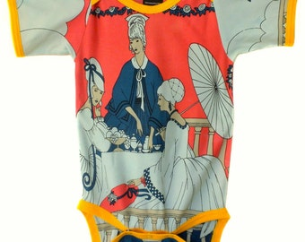 Vintage / Handmade / Bodysuit / baby clothes - High Tea