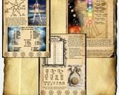 Digital Download Book of Shadows 3 Page Set - 7 Seven Planets Magick - Ceremonial Magick, Alchemy, Chakra associations