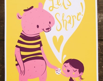 Share Bear print
