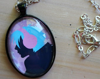 Aoba DMMD glass photo pendant necklace