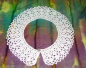 Crochet Lace Choker necklace or white lace collar is handmade for wedding, prom, business, formal event