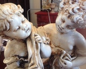 Vintage French Paris Plaster Statue Romantic Country Shabby Chic