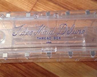 Vintage Tidee Maid Deluxe Thread B0x