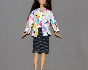B3PC-54 ) Barbie 3 pc outfit