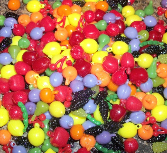 Plastic Fruit and Vegetable Beads/Charms