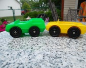 Vintage Little People Set of 2 Automobiles