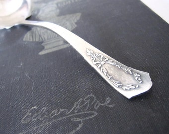 Antique S Monogram Sauce Ladle, Marjo-Nell 1903 by Associated Silver Co Silverplate