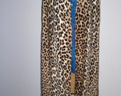 Vintage,  Faux Fur,  Long Vest, or Sleeve-less Coat or Wrap.  Handcrafted in the 60s.