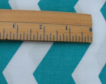 Turquoise Chevron Fabric - Yardage