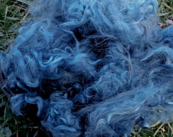 Suri Alpaca Fiber, 5 Inches, Musk, Hand-Dyed, 2 Ounces, Luminous