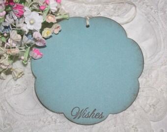 Wish Tree Wedding Tags - Light Blue Flowers - Birthday Wish Tags - Shower Wish Tags