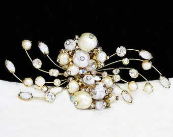 Hattie Carnegie Pearls and Rhinestones Demi Parure