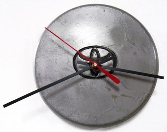 Recycled Wall Clock made from a 1992 - 1995 Toyota Paseo Center Cap