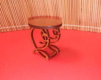 Art Nouveau style side table , 1/12 miniature for dollhouses