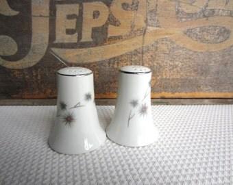 Vintage Mid Century Star Burst Creative Fine China 1014 Salt and Pepper Shaker