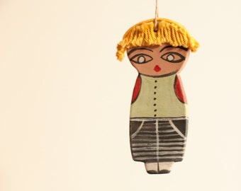 Anna Lela dolls---Ceramic Marionette -Chrsitmas gift-Sweet- Doll--moblie.-Modern--home decor-Unisex adults-birthday--Gift under 50 USD