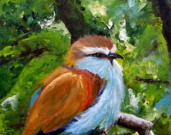 Spring Wren - Canvas or Paper print of an original painting
