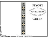 Peyote Bead Pattern Greek Bracelet Peyote Beading Pattern Bracelet Geometric Seed Beads Pattern Greek Roman Ethnic Bracelet Pattern Tribal