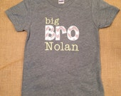 Big or Little BROTHER applique, oneise or shirt